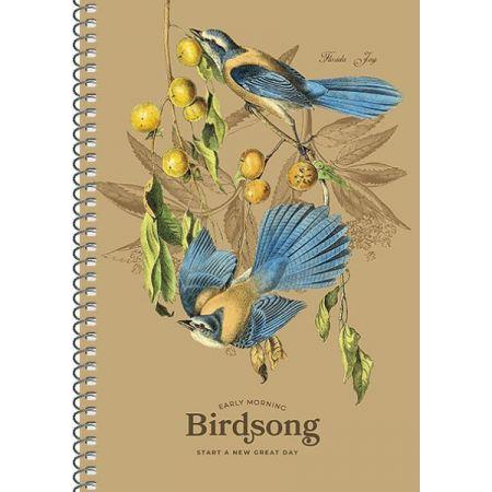 Kołobrulion A5 96k kremowy papier, Birdsong