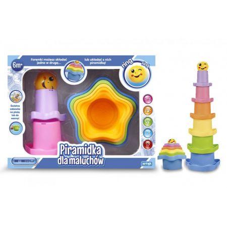 Piramidka dla malucha w pudełku E- EDU 129476 ARTYK