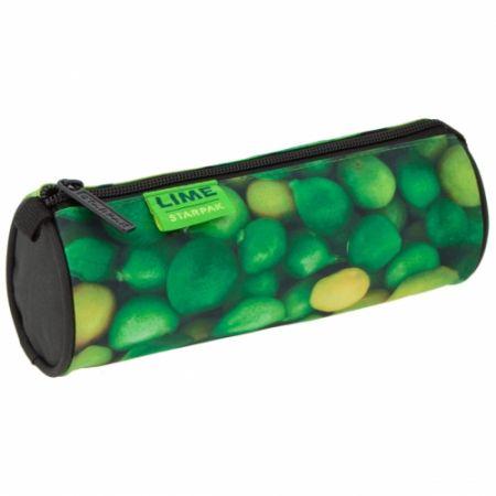 Piórnik tuba Lime