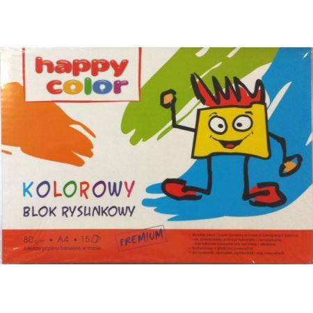 Blok rysunkowy kolorowy A4, 80g, 15 arkuszy