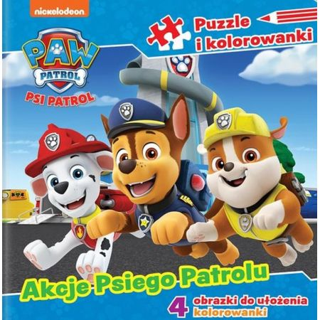 Psi Patrol Puzzle i kolorowanki Akcje Psiego Patrolu