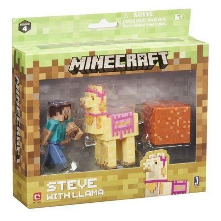 Minecraft - zestaw Steve z lamą