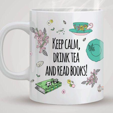 TanioKsiążkowy kubek - Keep Calm, Drink Tea AND Read Books