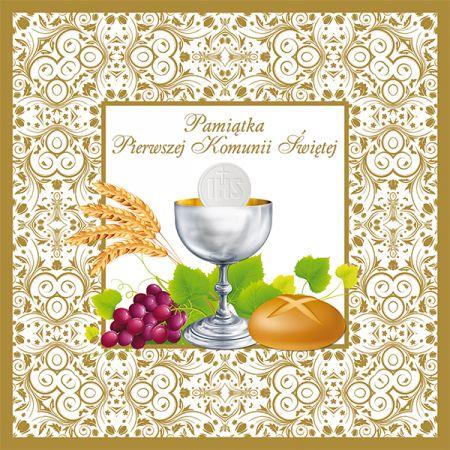Pamiątka I Komunii Świętej ze złoceniem