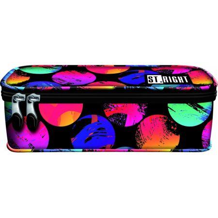 Piórnik saszetka z wewnętrzną klapką ColourfulDots
