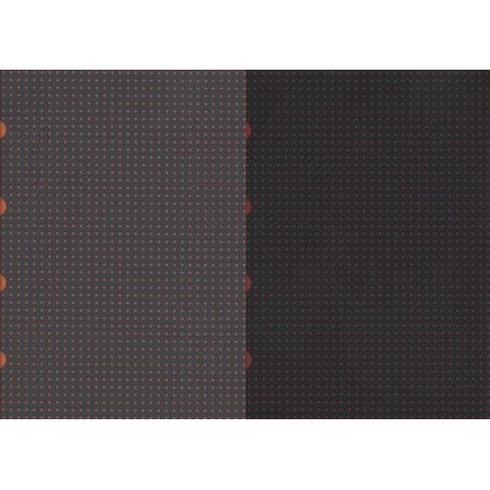 Zeszyt A4 Paper-oh Cahier Circulo w kratkę 40 kartek Black on Red / Grey on Orange