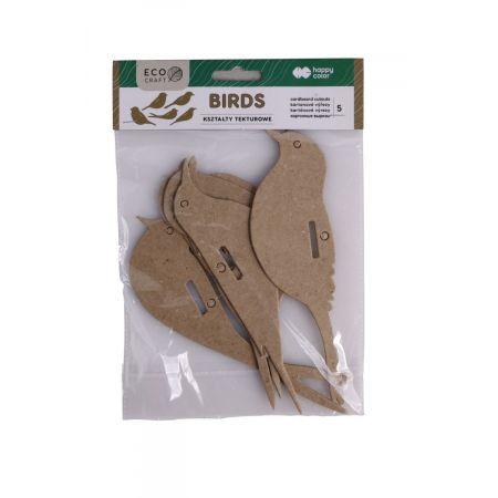Zestaw kształtów tekturowych Bird 5szt HAPPY COLOR