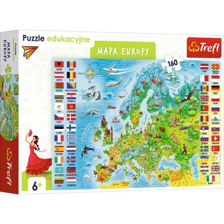 Puzzle Edukacyjne mapa Europy TREFL