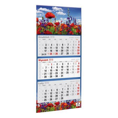 Kalendarz 2020 KTT Trójdzielny Płaski MIX AVANTI
