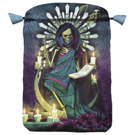 Satynowy woreczek Santa Muerte na karty Tarota