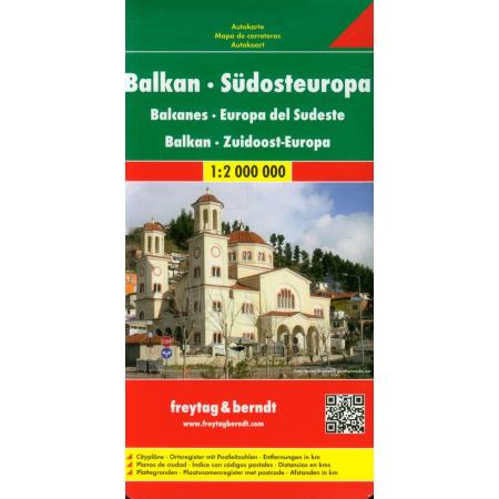 Mapa - Bałkany, Europa cz. południowa 1:2 000 000