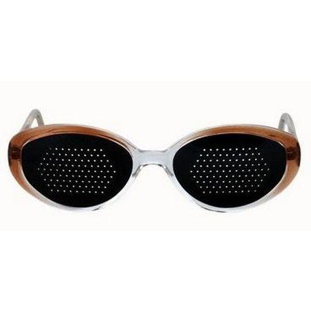 Okulary ajurwedyjskie damskie, brązowe