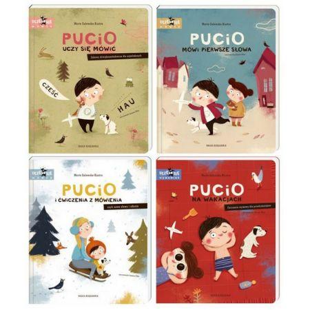Pakiet Pucio: Pucio uczy się mówić, Pucio mówi pierwsze słowa, Pucio i ćwiczenia z mówienia, Pucio na wakacjach