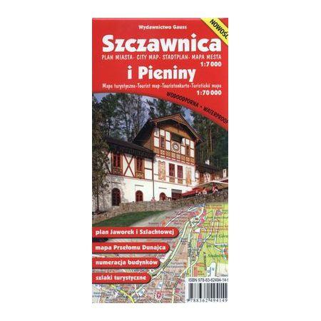 Szczawnica i Pieniny Plan miasta 1:7 000 Mapa turystyczna 1:70 000