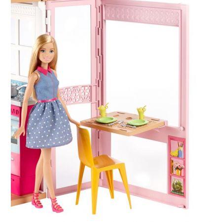 Barbie. Dwupoziomowy domek z lalką