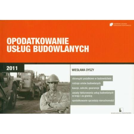 Opodatkowanie usług budowlanych 2011