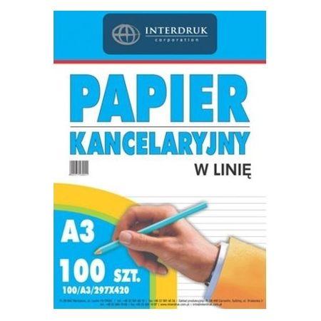 Papier kancelaryjny A3/100K linia