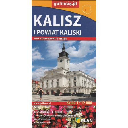 Mapa turystyczna - Powiat Kaliski/Kalisz 1:60 000