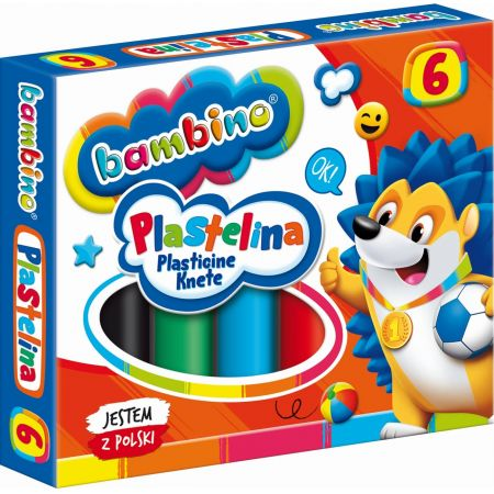 Plastelina 6 kolorów BAMBINO