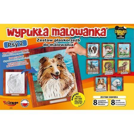 Wypukła malowanka - Psy Seria 2 Zestaw 8 wzorów