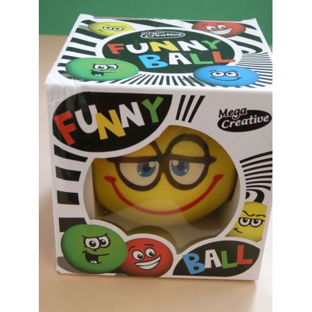 Mega Creative Funny Ball 10cm /żółta uśmiechnięta