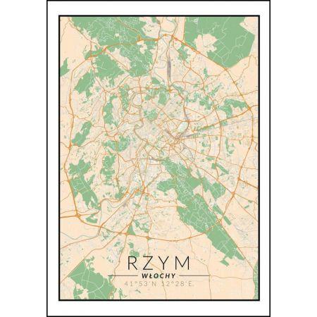 Rzym mapa kolorowa - plakat