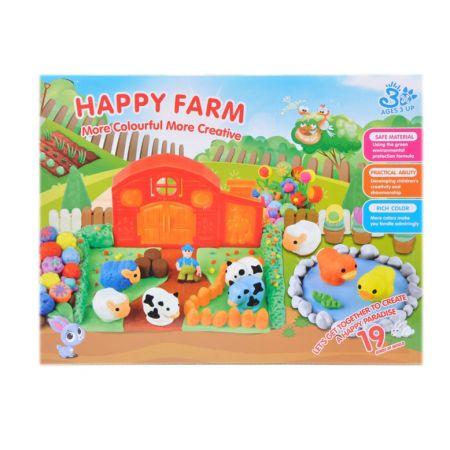 Masa plastyczna farma plus akcesoria MEGA CREATIVE 460019