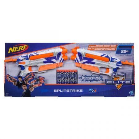PROMO NERF ELITE N-Strike Wyrzutnia Splitstrike x2 + 8 strzałek C3135 HASBRO