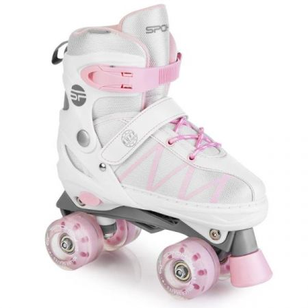 Wrotki Buff Pro 34-37 929164 biało/różowe SPOKEY