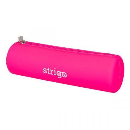 Piórnik SSC059 silikonowy owalny różowy STRIGO