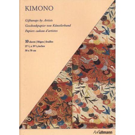 Artystyczny papier prezentowy: Kimono