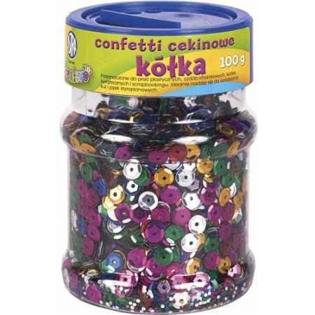 Confetti cekinowe kółka - mix kolorów 100g
