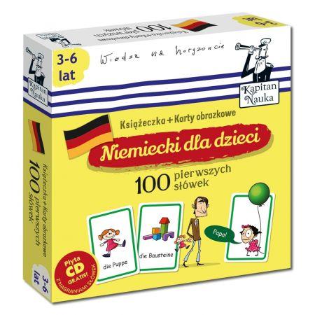 Niemiecki dla dzieci 100 pierwszych słówek Książeczka + Karty obrazkowe