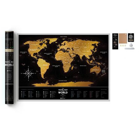 Mapa zdrapka świat travel map black world
