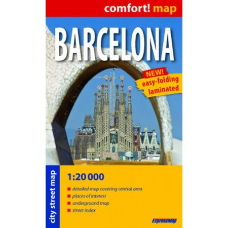 Comfort!map Barcelona midi 1:20 000 plan miasta