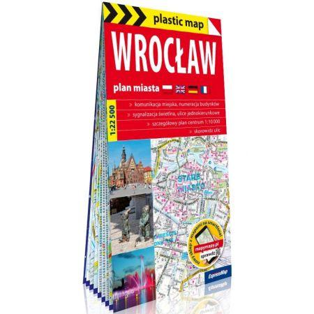 Plastic map Wrocław 1:22 500 plan miasta w.2020