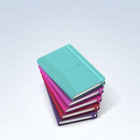 Notatnik Oxford Signature A6, 80 kartek, kratka, twarda okładka, pastelowe kolory
