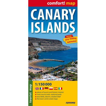Wysypy Kanaryjskie mapa turystyczna, laminowana