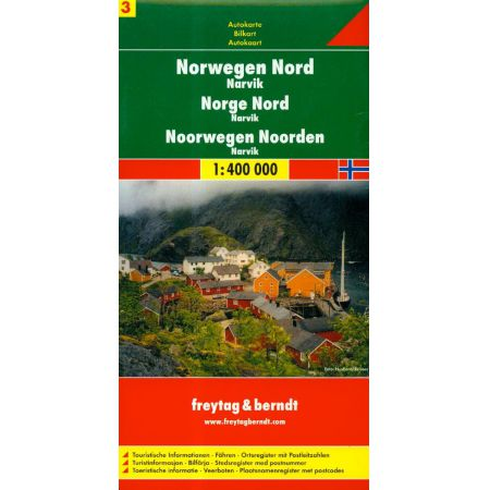 Norwegia część północna Narvik 1:400 000