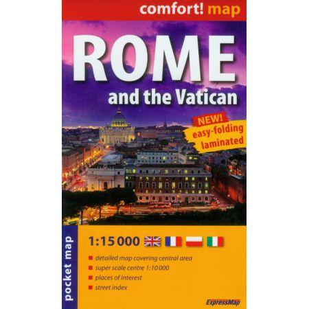 Comfort!map Rzym and Watykan 1:15 000 plan miasta