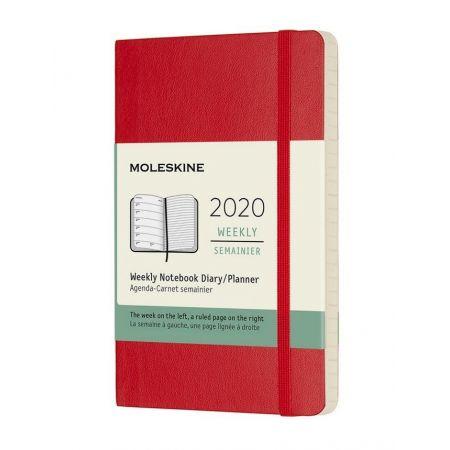 Kalendarz 2020 tygodniowy pocket Scarlet red