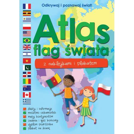 Atlas flag świata z naklejkami i plakatem