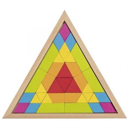 Puzzle Mozaika Trójkątne tęczowe