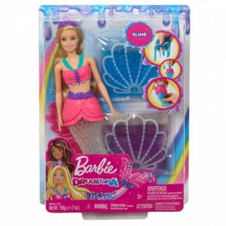 Barbie Dreamtopia. Lalka Syrenka brokatowy slime
