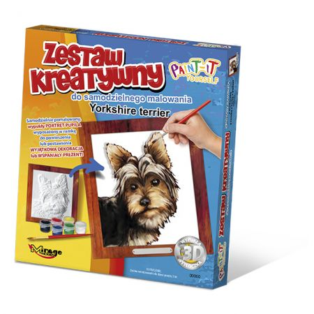 Wypukła malowanka Psy - Yorkshire terrier