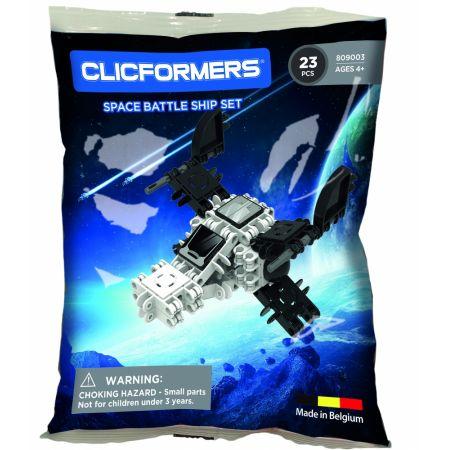 Belgijskie klocki konstrukcyjne CLICFORMERS Statek Kosmiczny 23 elementy- 809003