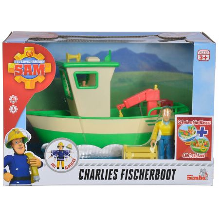 Strażak Sam Łódź rybacka Charliego + figurka