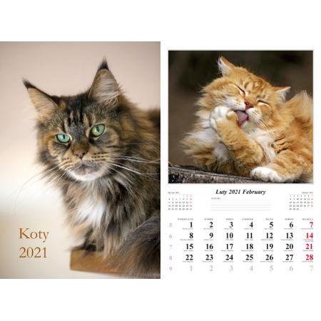 Kalendarz 32x48 7-k Koty 2021