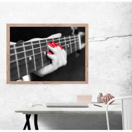 52e0345ac4aa27 Gra na gitarze - plakat premium w TaniaKsiazka.pl