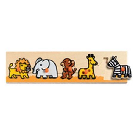 Puzzle drewniane z uchwytami - Safari